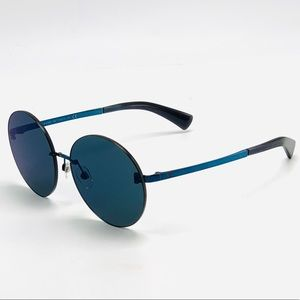 New CHANEL Round Crosshatch Rimless Sunglasses